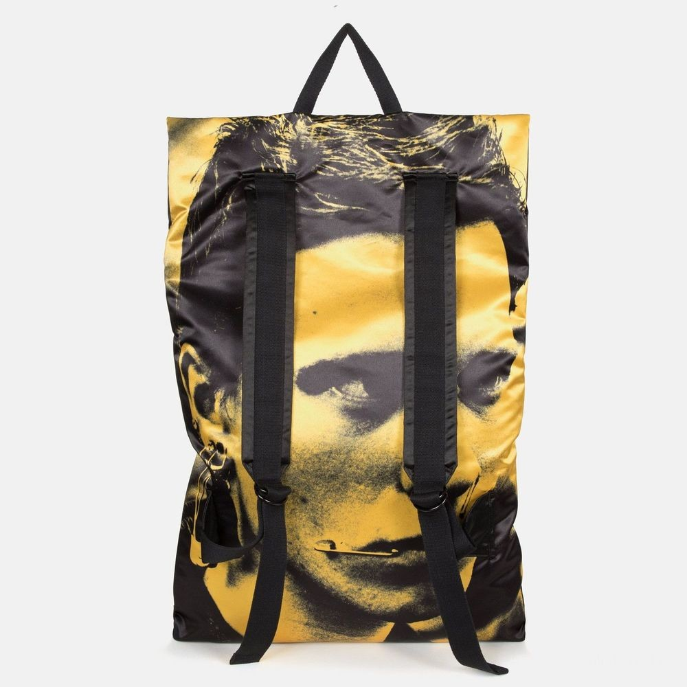 Eastpak Raf Simons Poster Backpack Satin Boy Yellow - Soldes