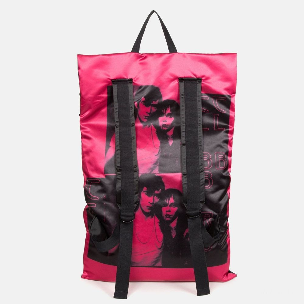Eastpak Raf Simons Poster Backpack Satin Couple Fuchsia - Soldes