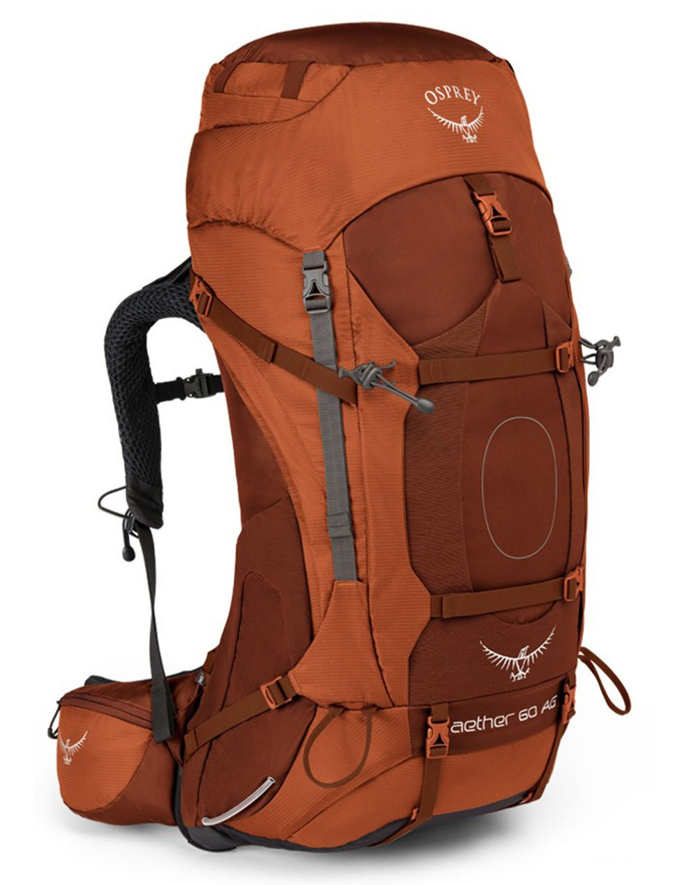 Osprey Sac à dos de trekking - Aether AG 60 Outback Orange - Marque