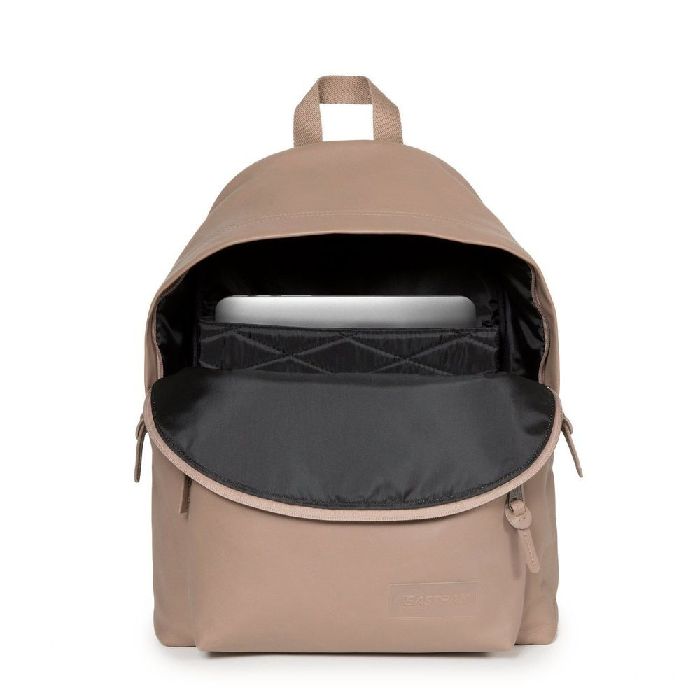 Eastpak Padded Pak'r® Taupe Leather - Soldes